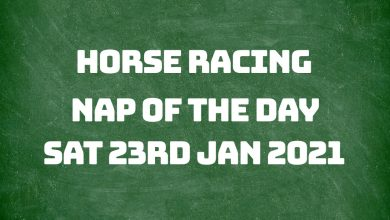 Nap of the Day - 23rd January 2021