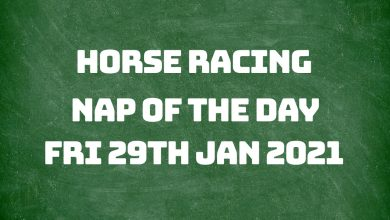 Nap of the Day - 29th January 2021