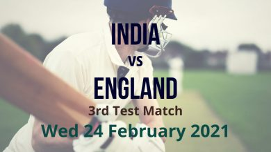 India vs England – 3rd Test Match Preview & Prediction