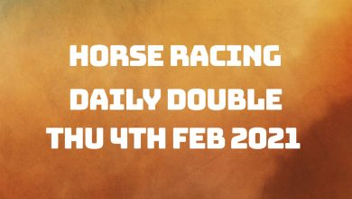 Daily Double Racing Tips - 4th Feb 2021
