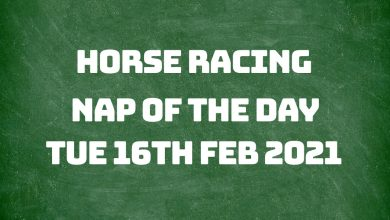 Nap of the Day - 16th Feb 2021