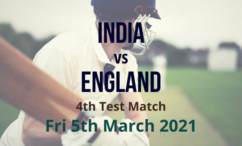 India vs England – 4th Test Match Preview & Prediction