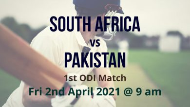 South Africa vs Pakistan – 1st ODI Preview
