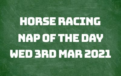 Nap of the Day – 3rd Mar 2021