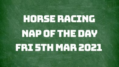 Nap of the Day - 5th March 2021