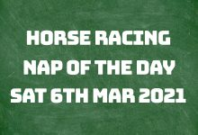 Nap of the Day - 6th March 2021
