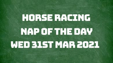 Nap of the Day - 31st March 2021