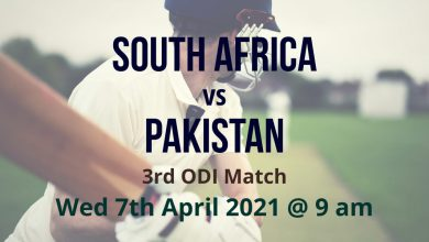 South Africa vs Pakistan – 3rd ODI Preview