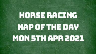 Nap of the Day - 5th April 2021