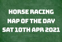 Nap of the Day - 10th April 2021